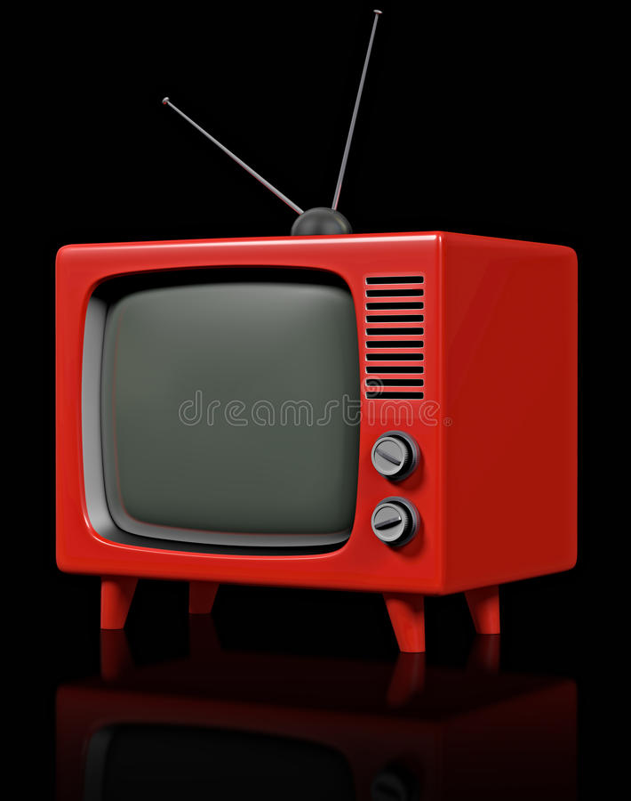 пластичный ретро tv стоковое изображение