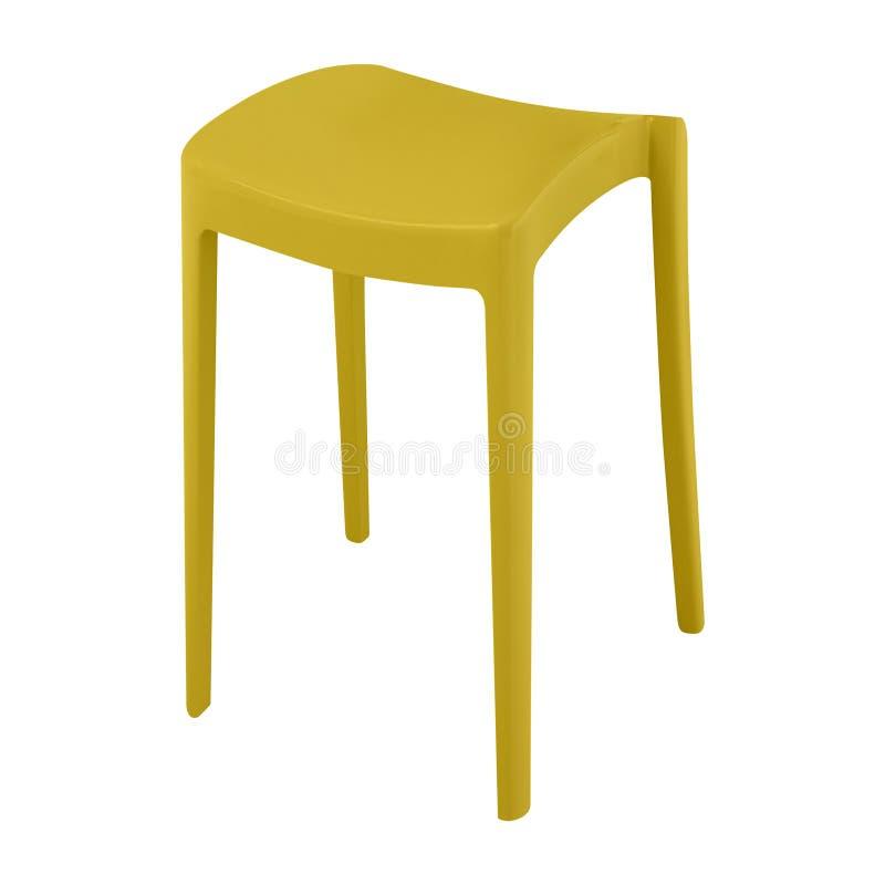 Пластичный стул на белизне стоковая фотография