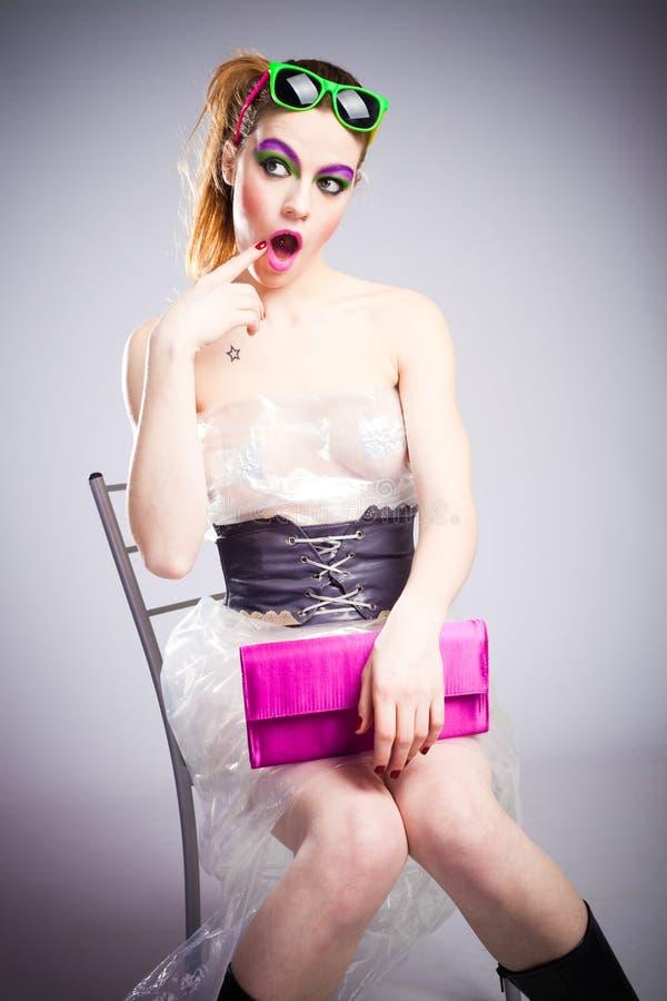 пластмасса девушки стоковое фото