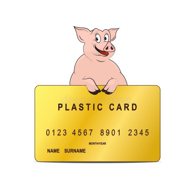 пластмасса карточки иллюстрация вектора
