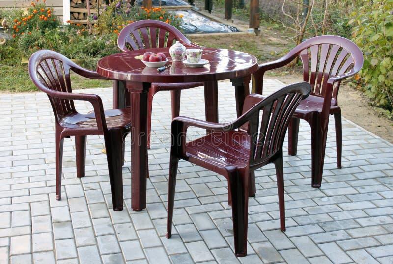 пластмасса мебели стоковая фотография rf