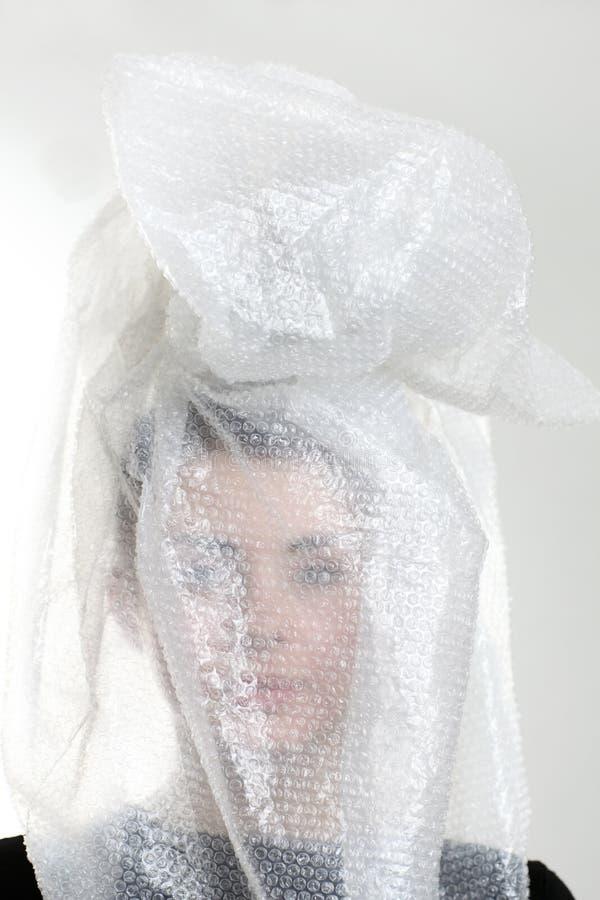 пластмасса s головки девушки мешка стоковое изображение rf
