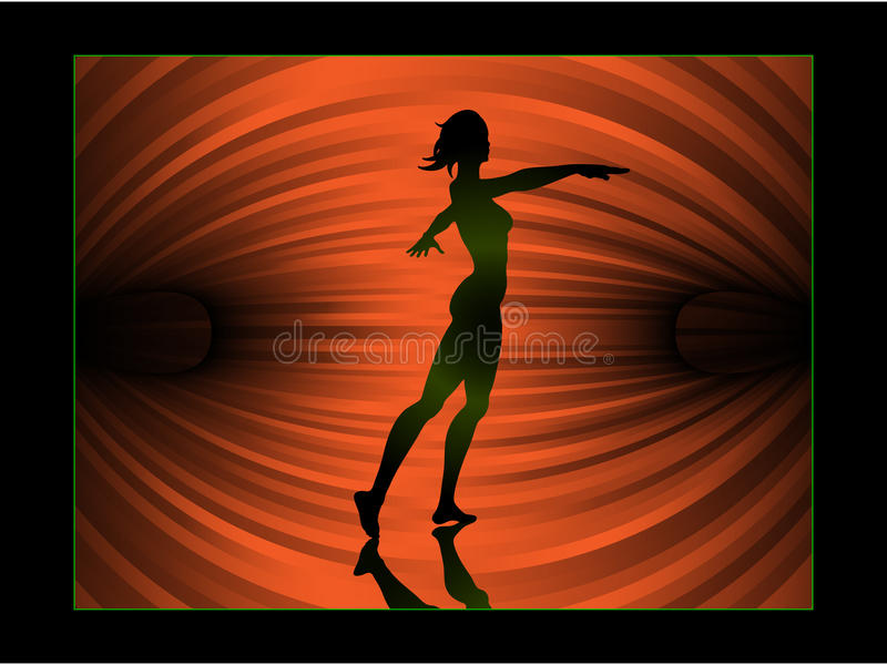 платформа балета предпосылки иллюстрация вектора