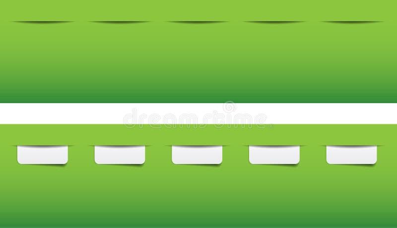 Платы вебсайта для меню иллюстрация вектора