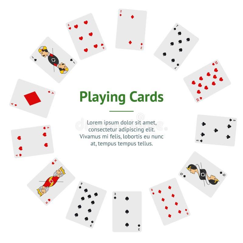 Платы для игры в покер: полный круг для баннерной карты Вектор бесплатная иллюстрация