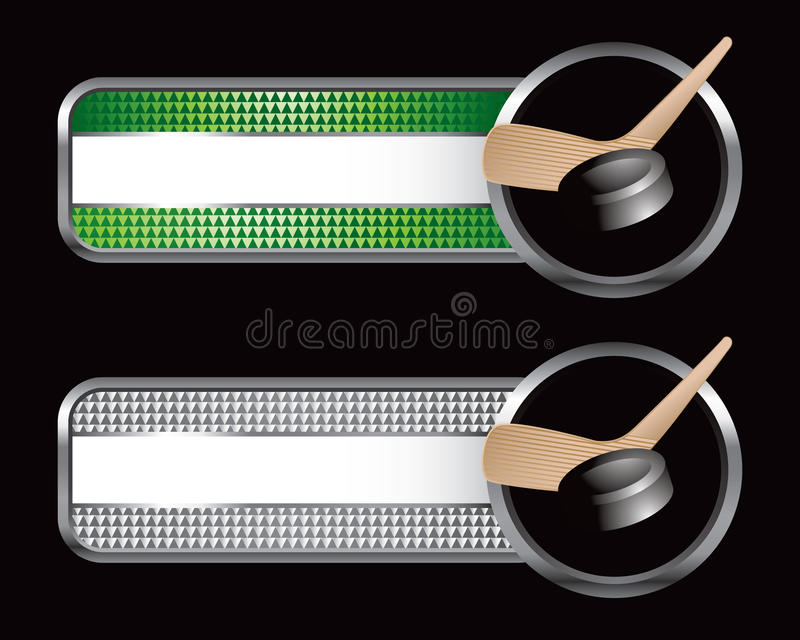 платы шайбы хоккея striped ручкой иллюстрация вектора