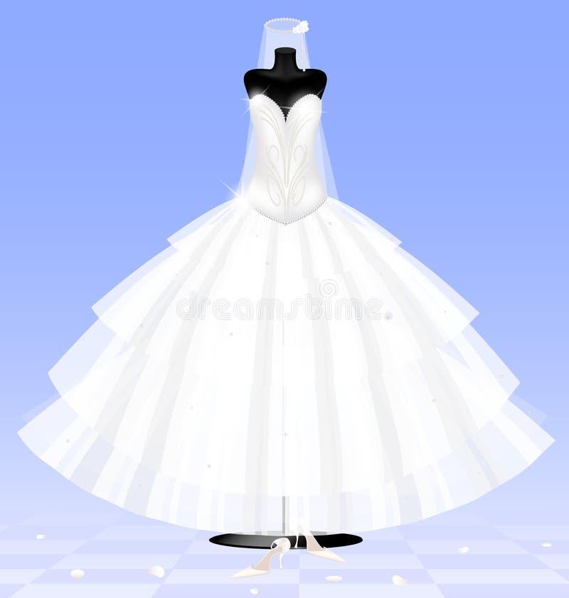 платье невесты иллюстрация штока