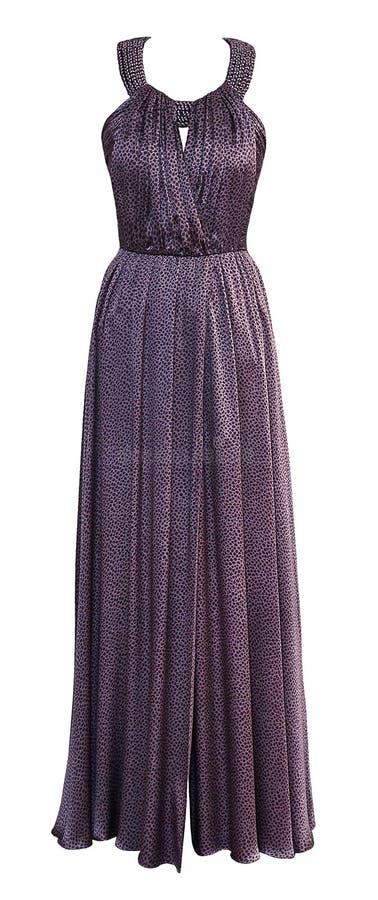Платье роскошного вечера бежевое шифоновой прозрачной ткани с кристаллами, sequins и payets стоковые фотографии rf