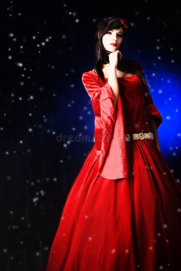 платье средневековое стоковое фото rf