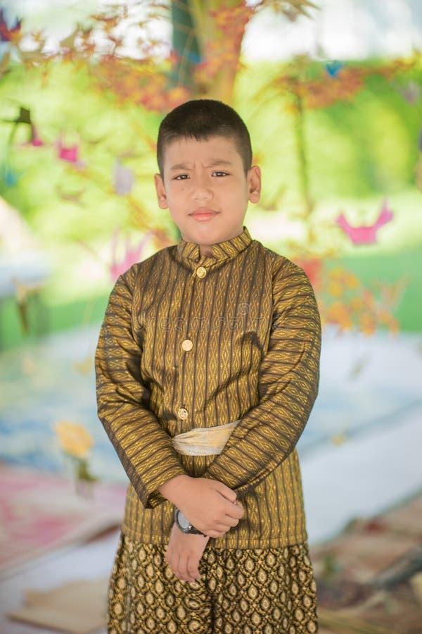 Платье тайского ребенка традиционное стоковое фото