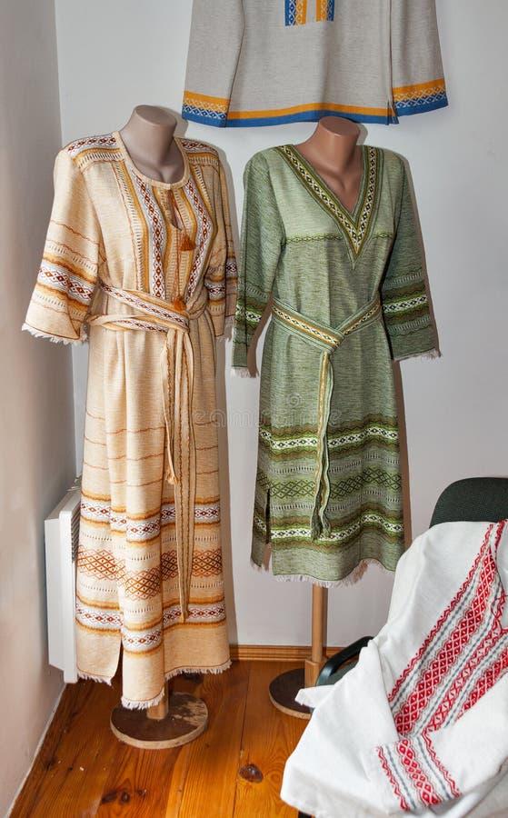 Платье украинской женщины национальное стоковая фотография rf
