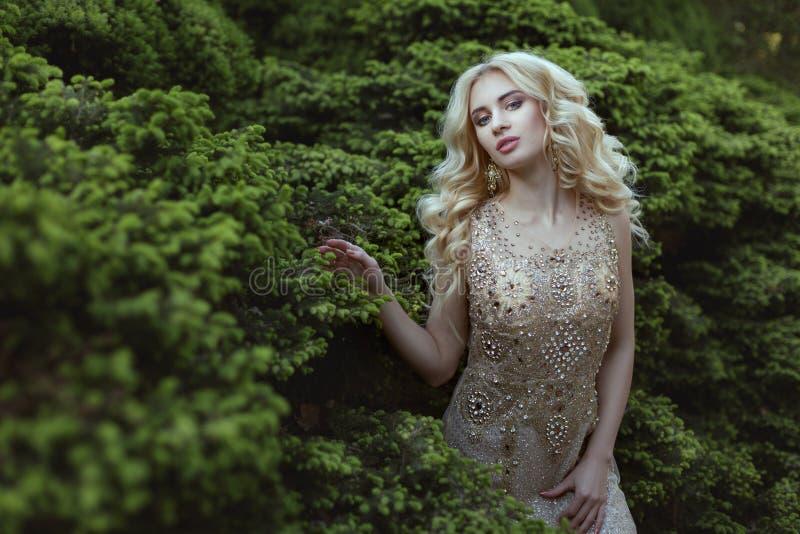 Платье украшенное с камнями на женщине стоковая фотография