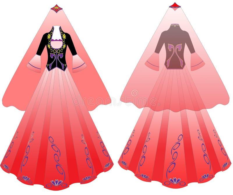 Платье иллюстрация вектора