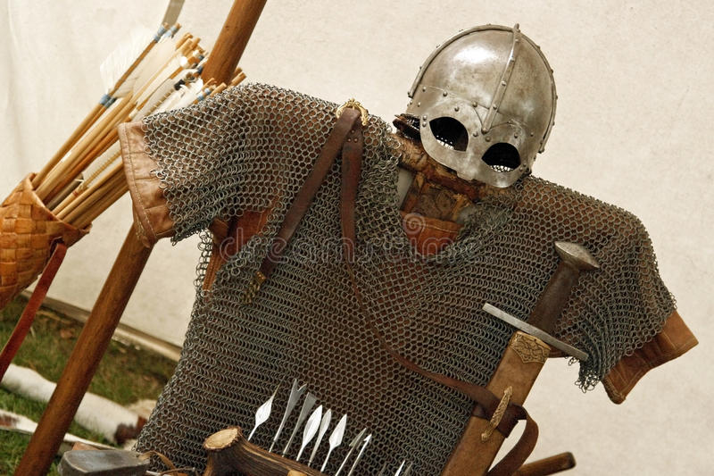 платье viking стоковая фотография