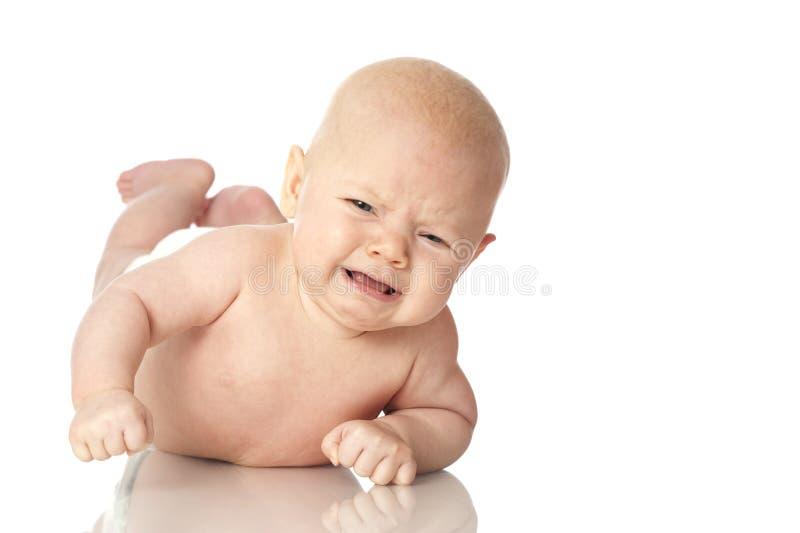 Плача младенец стоковые изображения rf