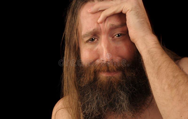 плача человек стоковые изображения rf