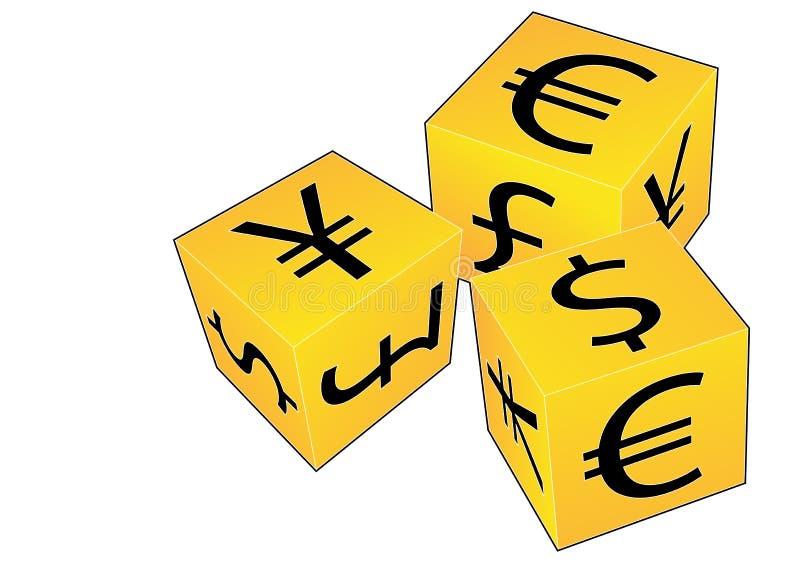 плашки валюты стоковая фотография rf