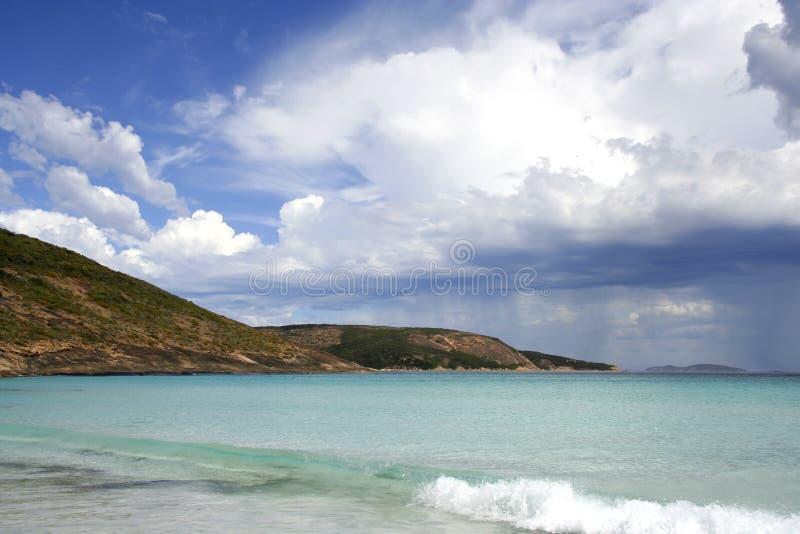 плаща-накидк грандиозный le пляжа стоковое фото rf
