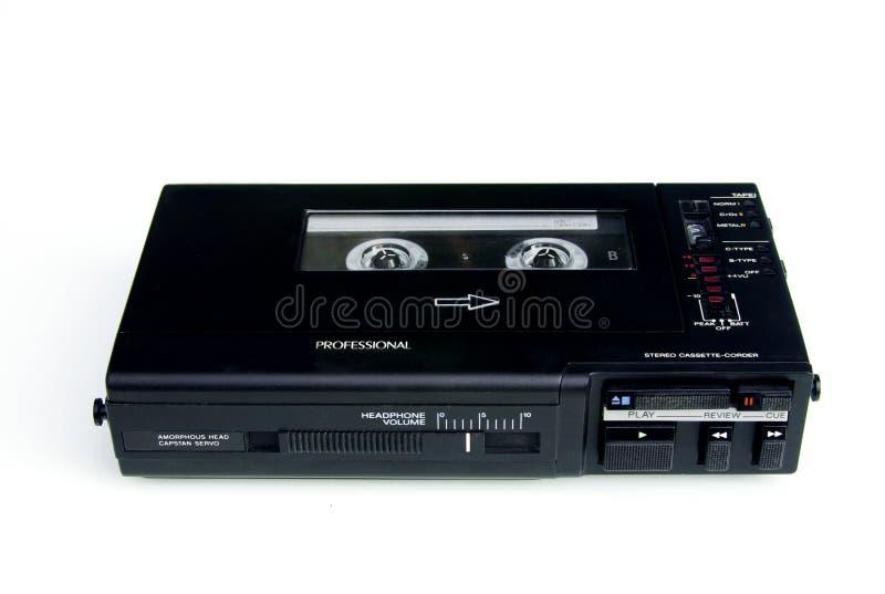 плеер рекордера кассеты профессиональный стоковая фотография rf