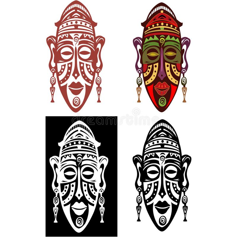 Племенная африканская иллюстрация вектора маск иллюстрация штока
