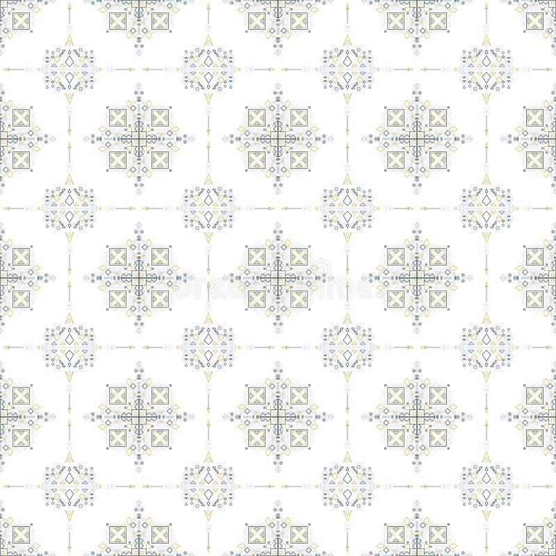 Племенная геометрическая безшовная картина стоковая фотография