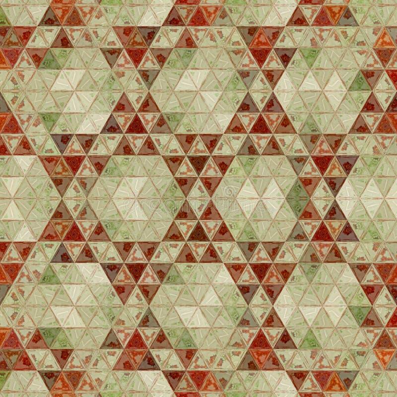 Племенная непрерывная геометрическая картина с мозаикой треугольников для печати ткани, половика или ковра стоковые изображения rf