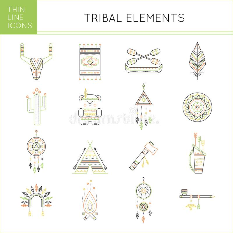 Племенной комплект значка бесплатная иллюстрация