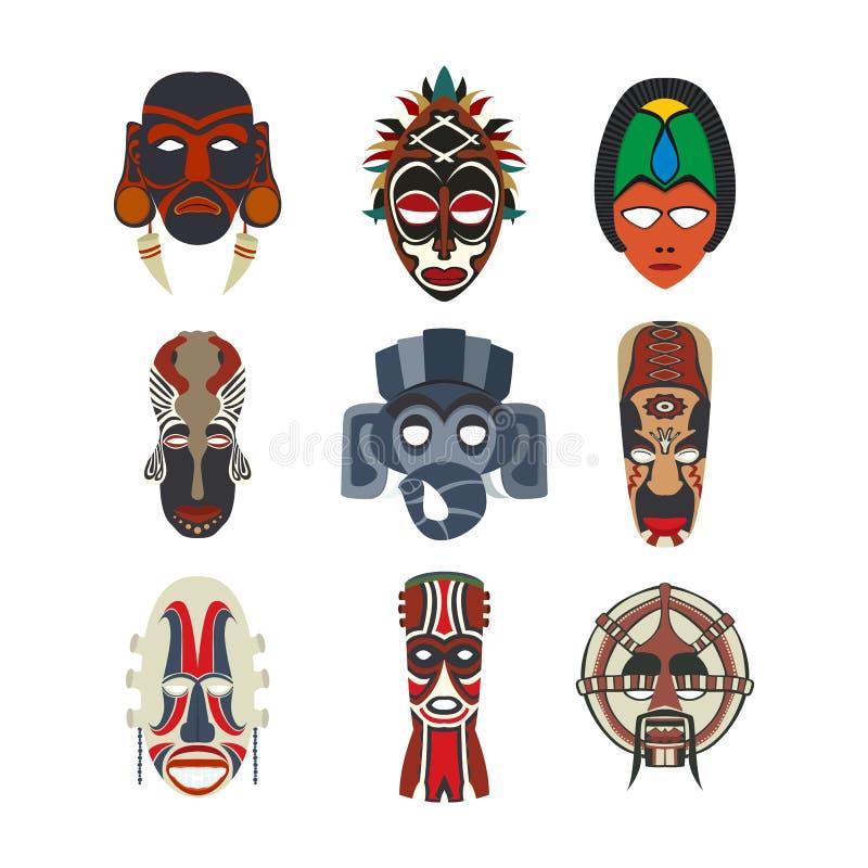 Племенной набор маск иллюстрация штока
