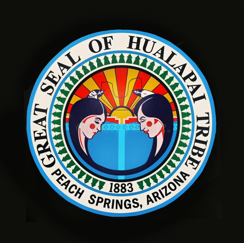 Племя Hualapai большой государственной печати, США стоковые изображения