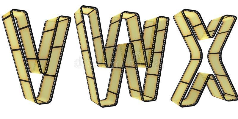 пленка алфавита иллюстрация штока