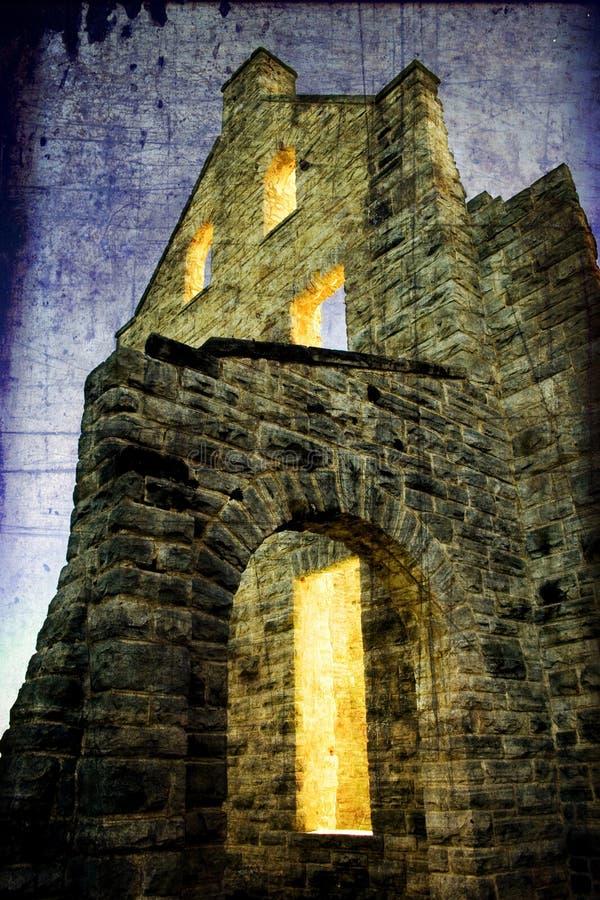 пленка замока освещает старую стоковое фото