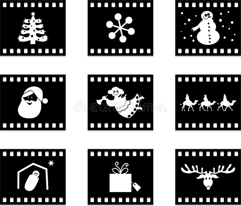 пленка рождества иллюстрация вектора
