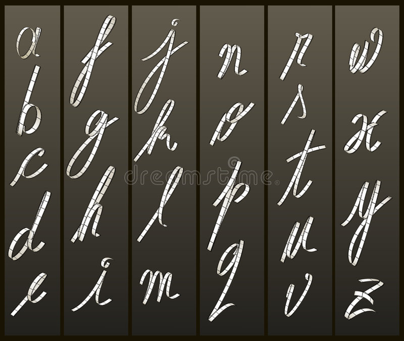 пленка случая помечает буквами более низкую прокладку иллюстрация вектора