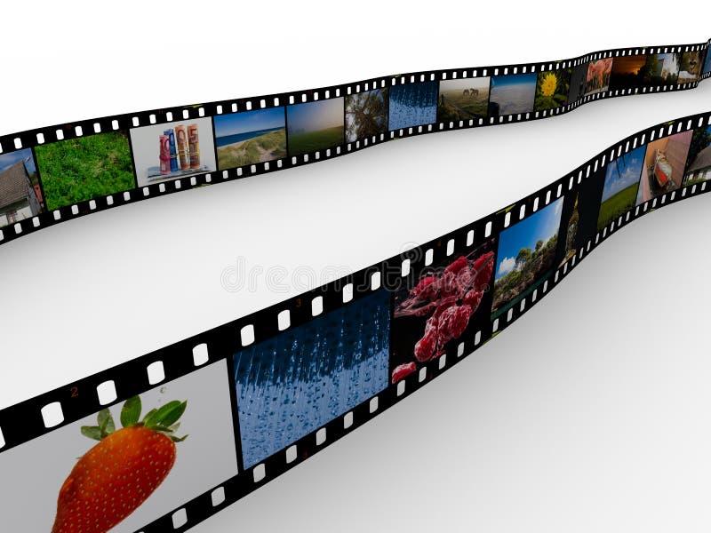 пленка 35mm с изображениями иллюстрация вектора