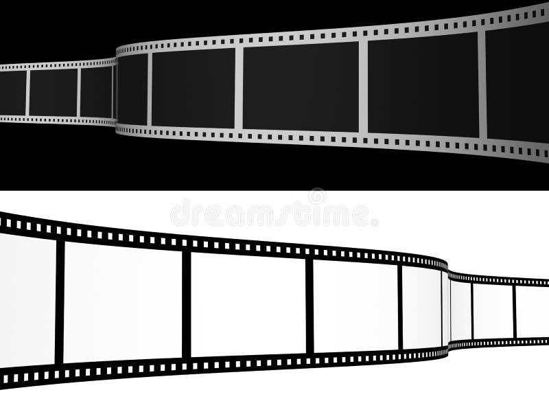 пленка 3d фотографическая иллюстрация вектора