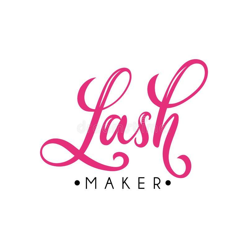 Плетки помечая буквами desig логотипа для бара плетки иллюстрация штока