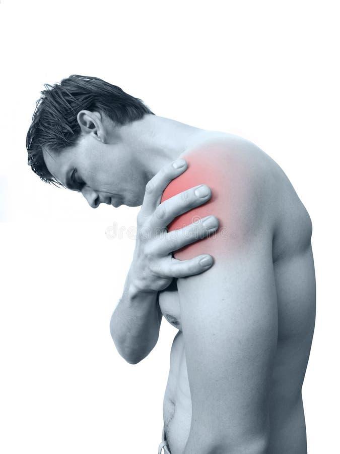 плечо боли стоковое изображение