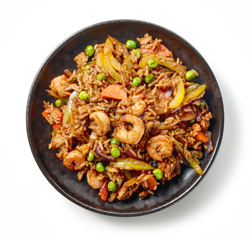 Плита азиатской еды стоковое фото rf
