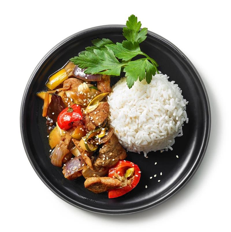 Плита азиатской еды стоковые изображения rf