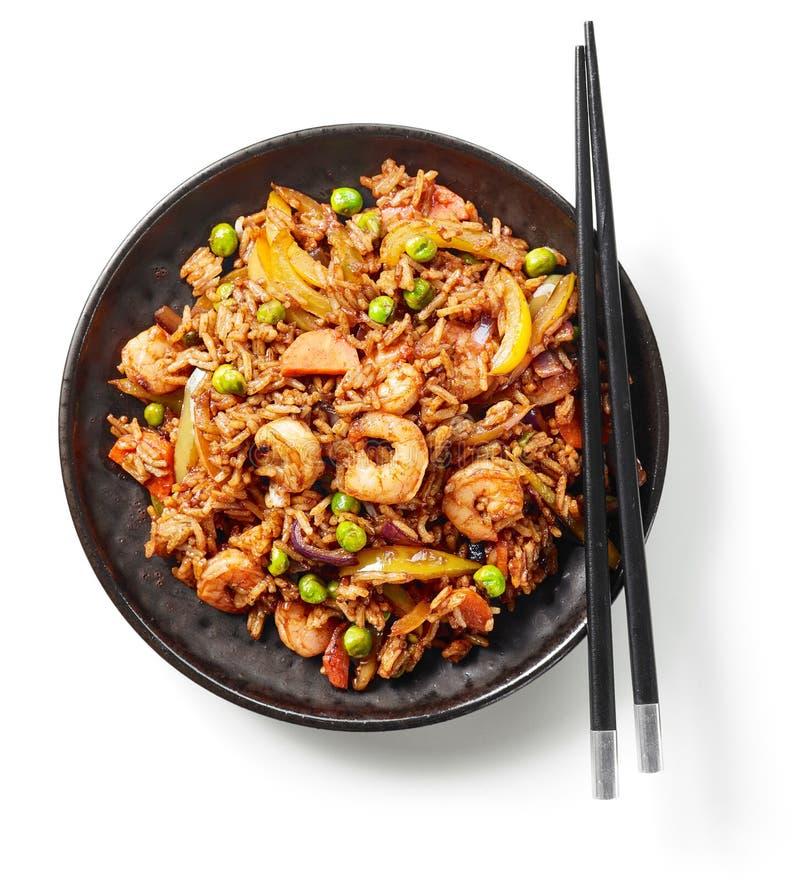 Плита азиатской еды стоковые изображения