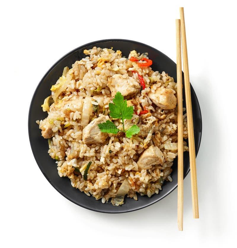Плита азиатской еды стоковые фотографии rf