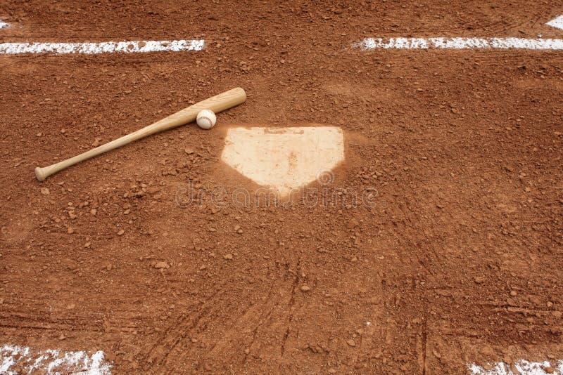 плита бейсбольной бита домашняя близкая стоковое изображение