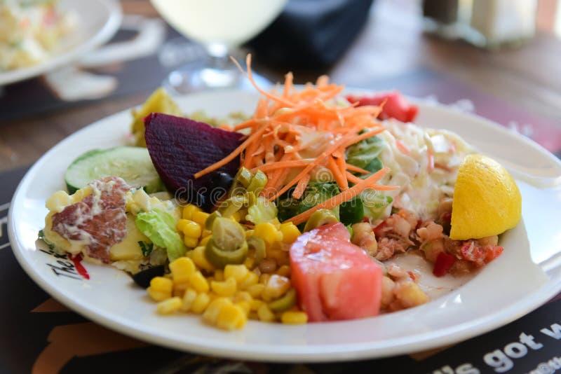 Плита здоровой еды стоковые фотографии rf