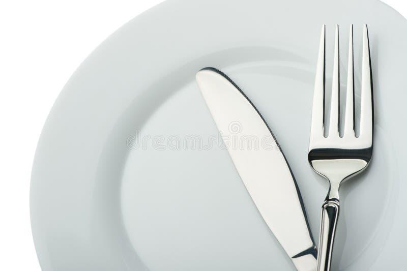 плита ножа вилки стоковое фото rf