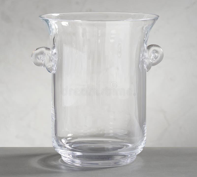 Плита обедающего Санта - простое современное ведро льда PlateMonique Lhuillier Peyton цвета стеклянное стоковая фотография rf