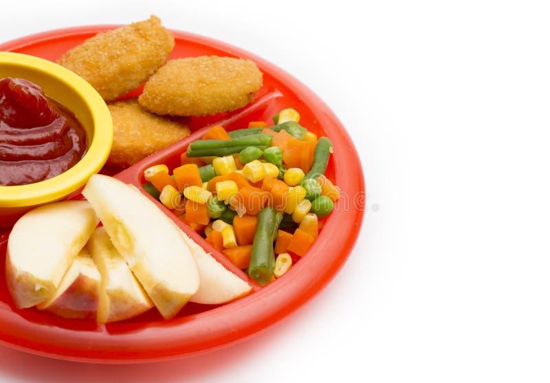 Плита обеда ` s детей стоковая фотография rf