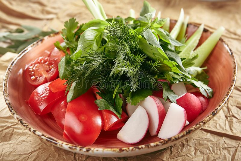 Плита овоща Vegan свежего стоковое фото rf