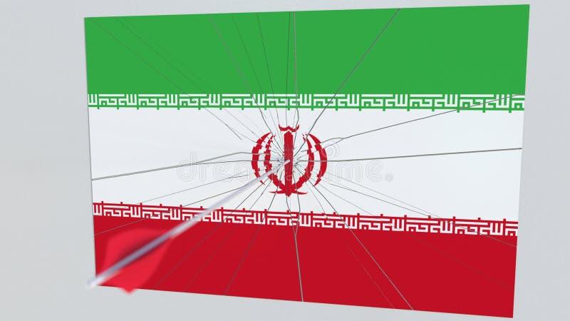 Плита перерывов стрелки Archery отличая флагом ИРАНА перевод 3d бесплатная иллюстрация