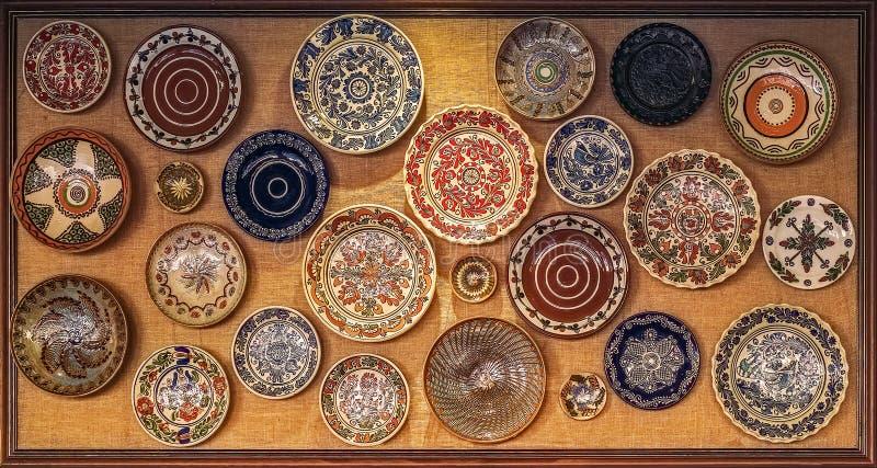 Плита румынского национального фольклора подлинная традиционная стоковая фотография