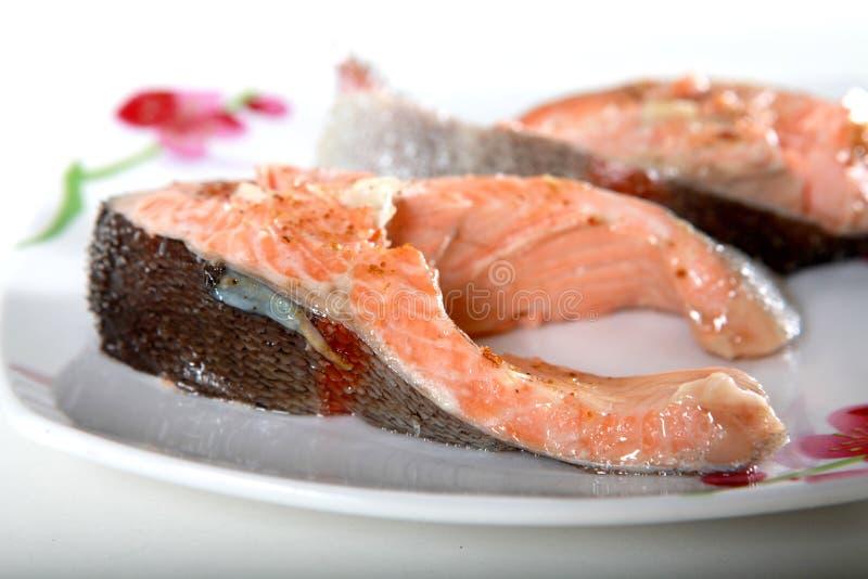 плита рыб стоковая фотография